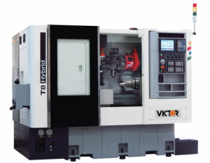 Victor T-8 CNC Hybrid Turret Lathe by Amerigo Machinery Co